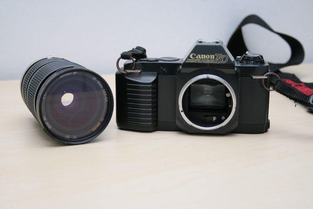 Aparat analogowy Canon T50 + Obiektyw Tamron 28-80