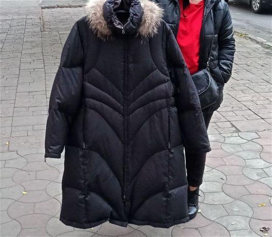 Женский зимний лёгкий , тёплый пуховик пальто Collage р.56