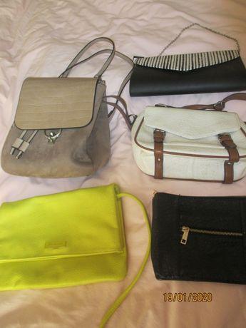 5 malas/bolsas/pochette/mochila para senhora