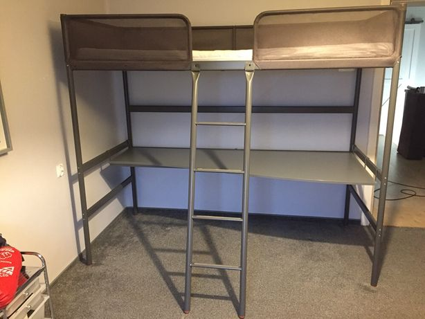 Łóżko rama + biurko Ikea
