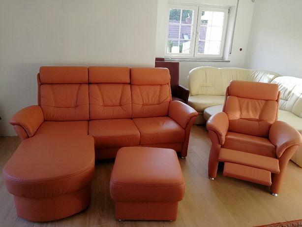 Sofa 3 Relax+ 1TV Skóra NOWY