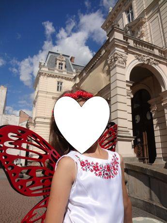 Костюм Метелика - ексклюзивні крила для фотосесії - 2 пари: чорн+черв.