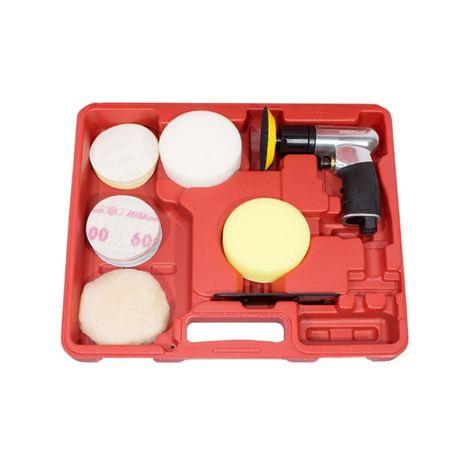 Kit mini polidora 75mm pneumática + acessórios PROMO