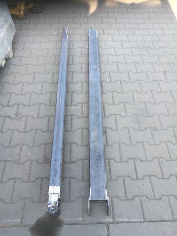 Przedłużki do wideł wózek widłowy  120x60 MOCNE. 2mb komplet