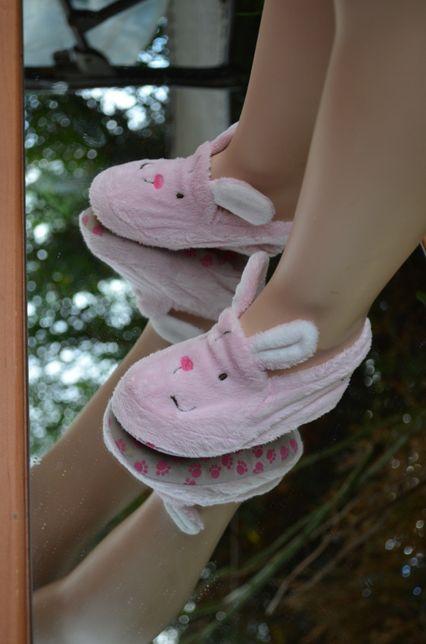 Мягкие фирменные тапочки-зайчики,для малыша 1 года