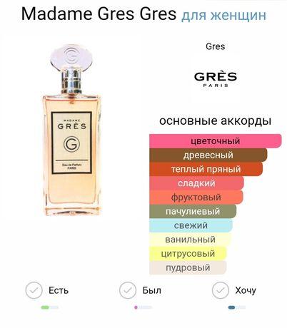 madame gres от парфюмерного дома gres
