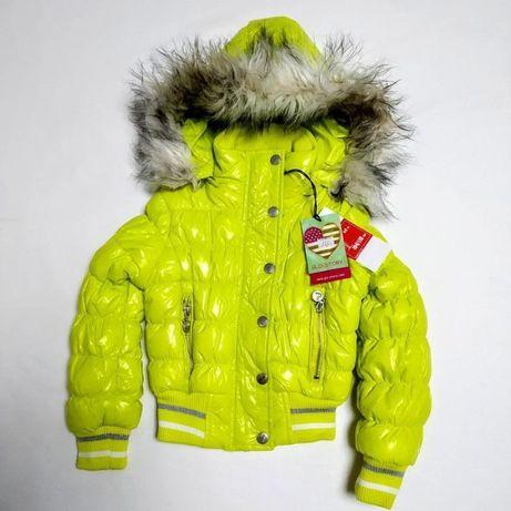 Новая, ярко-желтая курточка на девочку, демисезон, весна