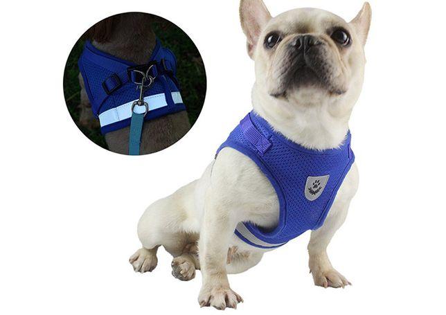 Светоотражающий жилет шлейка для собак и котов. Одежда для животных.