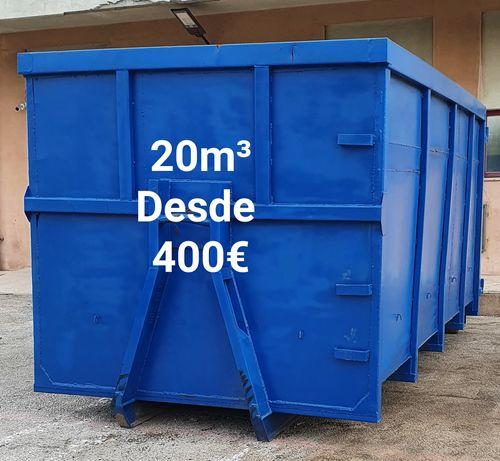 Temos contentores para todas as dimensões para transportar resíduos