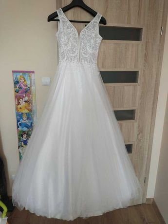Suknia Ślubna Salon VICTORIA Uszyta w 2021 R.  stan idealny