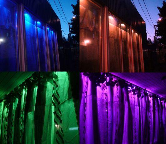Светодиодная подсветка RGB светильники комплект с блоком управления