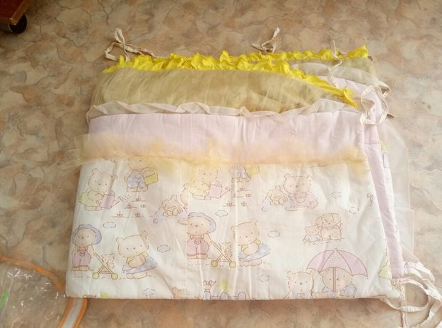 Бортик защита в в детскую кроватку