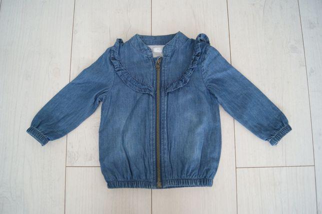 Kurtka jeansowa Bluza na zamek dziewczynka Pepco r.80