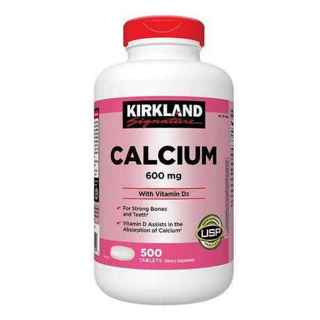 Вітаміни Kirkland Calcium 600mg + D3, 500шт США Оригінал