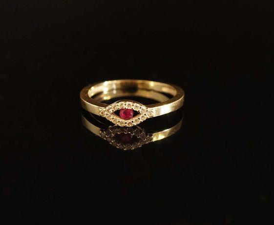 Złoto 585 - złoty pierścionek z cyrkoniami rozmiar 15