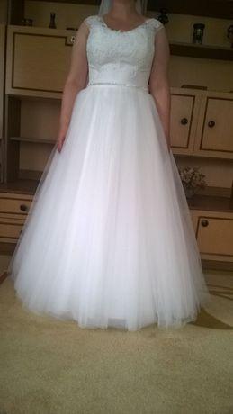 Piękna suknia ślubna XXL z Ideo Design rozm. ok 44-46