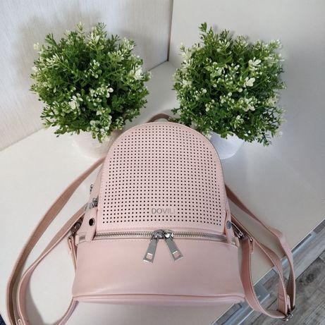 Пудровый рюкзак / городской рюкзак женский