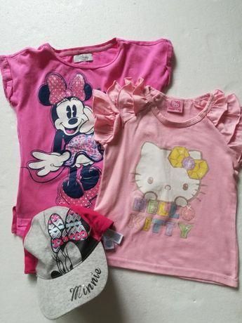 Фирменные футболочки и кепка на девочку 5-6 лет