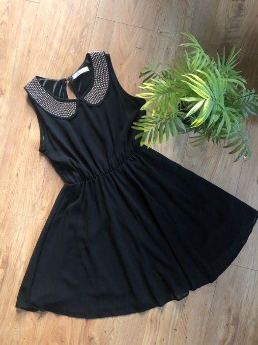 Czarna sukienka z nitami - rozmiar S 36 Pobiedziska - image 1