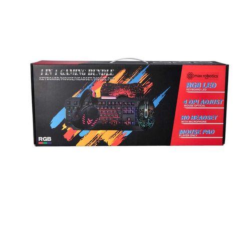 Игровой геймерский комплект Max Robotics RGB 4 в 1.