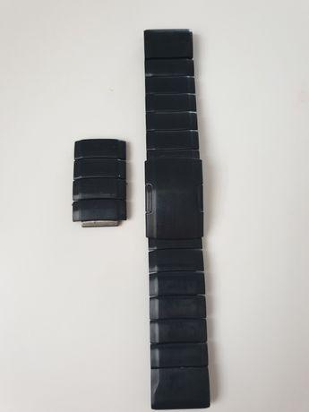 Czarna bransoleta do Garmin fenix 5, 6 22mm