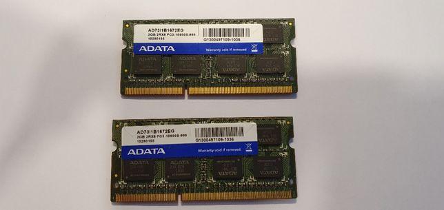 ADATA 2 Memória 2 GB Pc3-10600 Ddr3-1333mhz Laptop Memory RAM