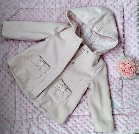 Дитяче пальто, пальтишко, світло рожеве, розмір 12-18 місяців (80-86)