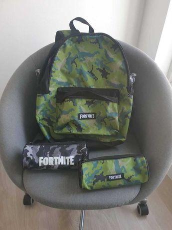Mala + estojos para escola Fortnite
