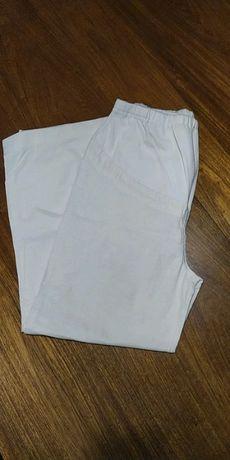 Białe spodnie ciążowe lniane Lindex roz. 44
