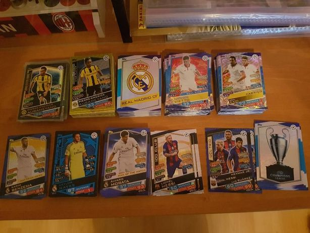 Topps champions league 2016/17 limited cards, man of the match logo