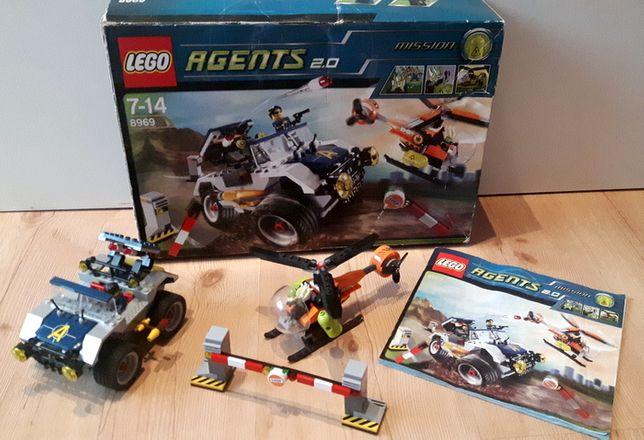 klocki Lego AGENT 8969 helikopter auto terenowe misja