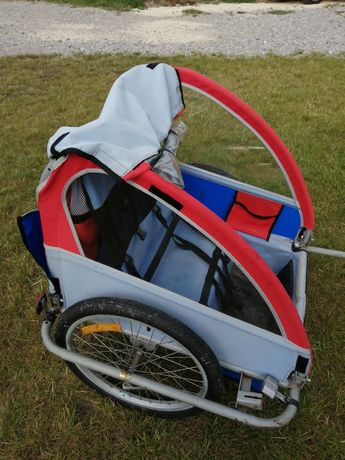 Riksza przyczepka rowerowa dla 2 dzieci