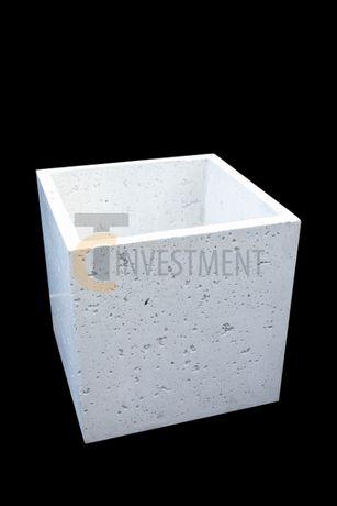 Donica betonowa ogrodowa 40x40x40 Donice betonowe ogrodowe tarasowe