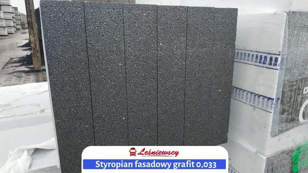 STYROPIAN GRAFIT 033 na ocieplenie elewacja/fasada STYROPOZ 8cm
