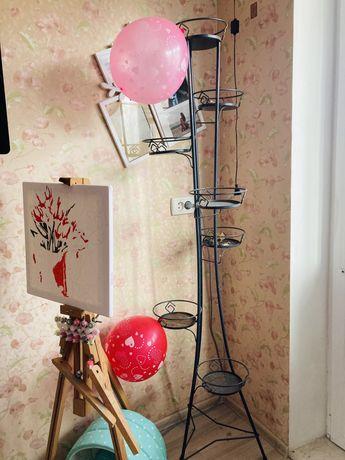 Кованная подставка для цветов из 7 кашпо