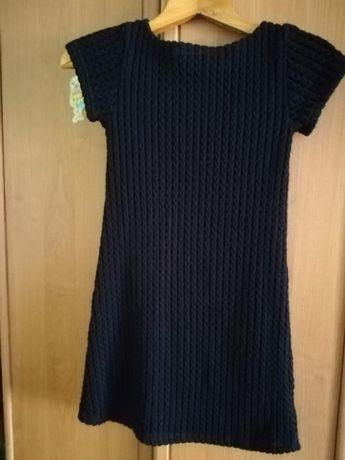 Платье черное, вязаное (школьная форма)