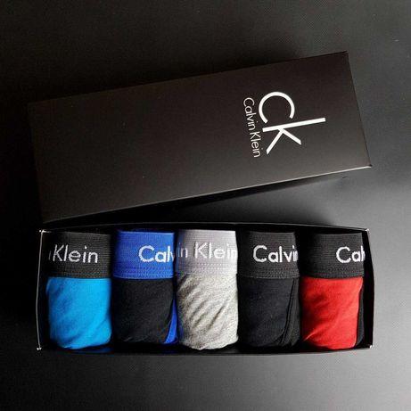Трусы мужские 5шт набор Calvin Klien борцовки