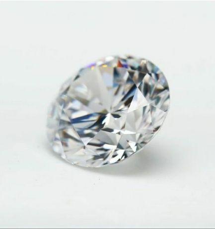 Муассонит синтетический бриллиант искусственный алмаз D 3mm 0.1ct VVS