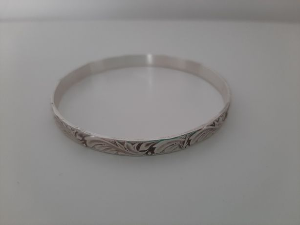 Warmet bransoleta liść akantu koło srebrna