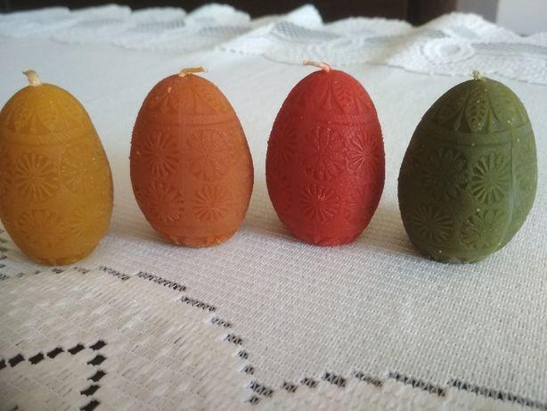 Sprzedam świece z wosku pszczelego jajko pisanka Święta Wielkanoc