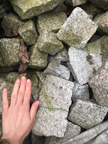 Granit kostka ogród ok 1 tona szary grafitowy