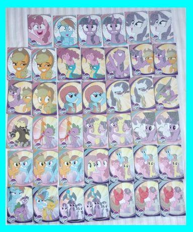 """"""" My Little Pony Szkoła Przyjaźni """" karty / naklejki do albumu Panini"""