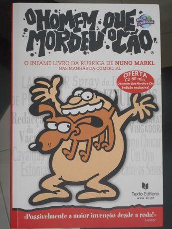 Livro Homem que Mordeu o Cão + CD - Nuno Markl