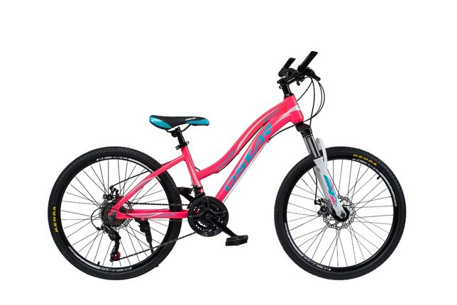Яркий велосипед для девочки Oskar Beauty на 24 колесах на алю раме