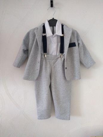 Garnitur/strój na chrzciny chłopiec roz 86