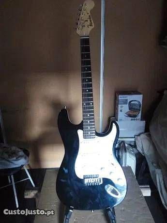 Guitarra eletrica, amplificador- conjunto completo
