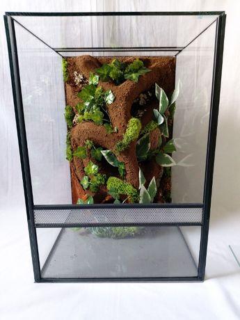Terrarium AquaWaves nr. kat.TW08TO (żaba, wąż, pająk, gekon orzęsiony)