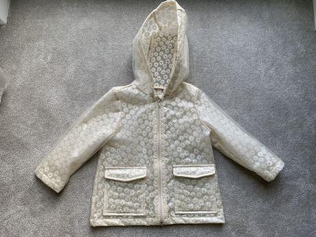 Płaszcz płaszczyk koronkowy poszukiwany przeciwdeszczowy 92 Zara