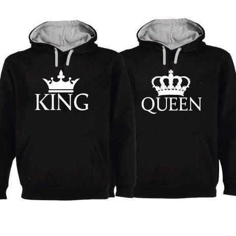 2 Sweats com Capuz Pretas King & Queen Flat Pack - Oferta de Portes