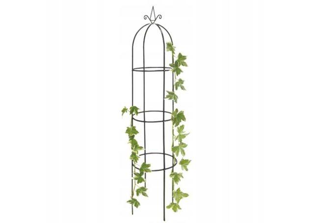 Pergola ogrodowa metalowa kolumna na róże kwiaty pnącza 190cm kotwy